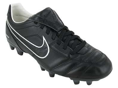 Nike Men's NIKE TIEMPO MYSTIC II FG SOCCER CLEATS 12 (BLACK/WHITE/MET SILVER)