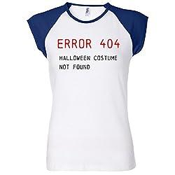 Error 404 Halloween Costume Not Found Women's Raglan T-Shirt