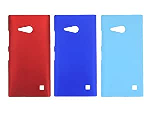 Winsome Deal Hard Back Cover Case for Nokia Lumia 730 (Pack Of 3)
