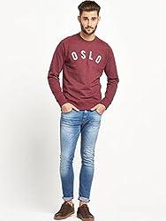 KOTTY Logo Applique Mens Sweatshirt - Burgundy