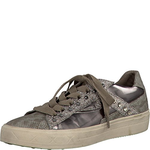 Tamaris Sneaker da donna nero, grigio (pepe), 40 EU