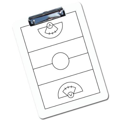 ChalkTalkSPORTS Girls Lacrosse Coaches Dry Erase Clipboard - White (Lacrosse Dry Erase Board compare prices)