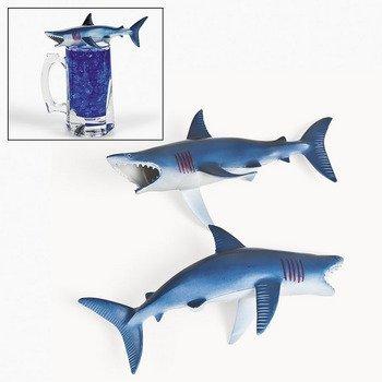 6 Plastic Sharks - 1