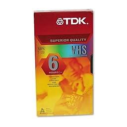 TDK : Standard Grade VHS Videotape Cassette, Six Hours -:- Sold as 2 Packs of - 1 - / - Total of 2 Each