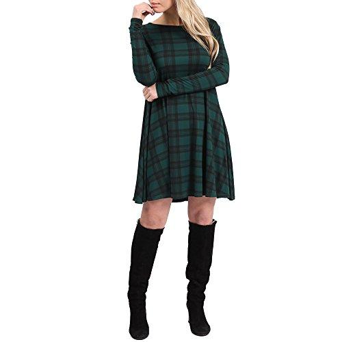 Simply Chic Outlet -  Vestito  - Maniche lunghe  - Donna Green Tartan 48