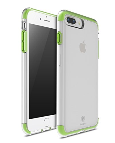 iPhone7 Plus ケース 【KuGi】 耐衝撃 Apple iPhone7 Plus 背面ケース 落下防止 超保護 衝撃吸収 シンプル TPU + TPE カバー スマートフォンケース iPhone 7 Plus 耐スクラッチ 携帯 保護カバー 本体の傷つきガード グリーン