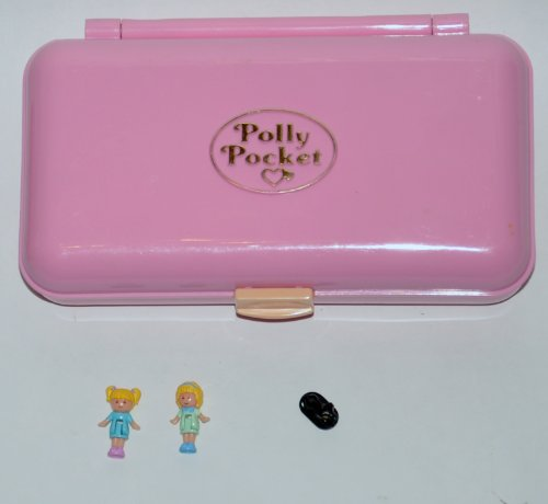 Complete 1990 Polly Pocket Pretty Hair Compact Play-set Comb Mirror Barrettes (Retired) Amazon.com