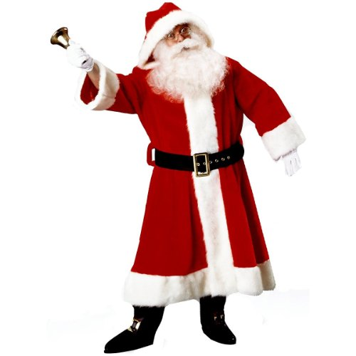Santa Claus Suit (Plush Old-Time) Christmas Costume Size Standard