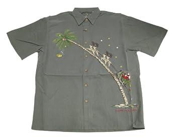 Bamboo cay mens santa up up and away embroidered shirt at for Bamboo button down shirts