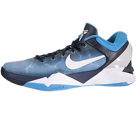 Nike Zoom Kobe Vii (7) Shark Mens Basketball Shoes (Obsidian/white-bl Gry-Crrnt Bl) 9.5
