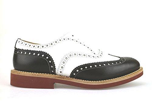 scarpe uomo CHURCH'S classiche 42,5 bianco t. moro pelle AH441