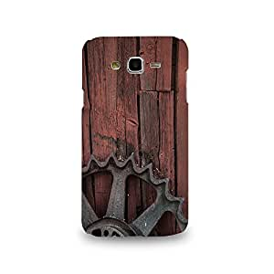 Mikzy Metal Piece With Wooden Background Printed Designer Back Cover Case for Samsung J7