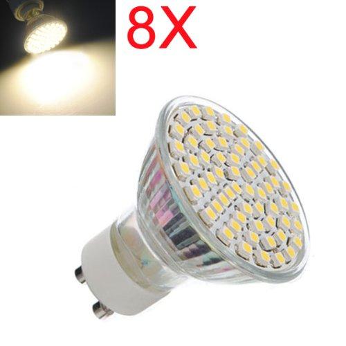 8X Gu10 4.5W Smd 3528 60-Led Spot Light Bulb Ac 220-240V