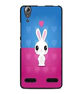 PrintDhaba Bunny D-5864 Back Case Cover for LENOVO A6000 PLUS (Multi-Coloured)