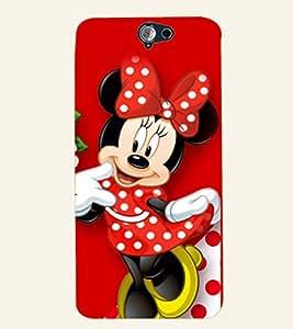 D KAUR Minnie Mouse Back Case Cover for HTC A9::HTC A9