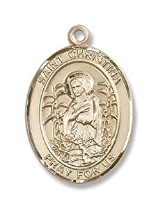 14kt Gold St. Christina the Astonishing Medal