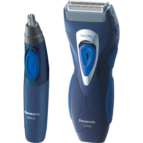 Panasonic ES4026CMB Men's Double Blade Shaving Combo with Bonus Nose/Ear Trimmer (Panasonic Es4026 compare prices)