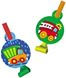 Truck Construction Pals Party Blowouts Baby Boy Birthday Party Supply 6 ct