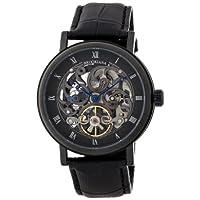 [ブルッキアーナ]BROOKIANA arabesque-skeleton 機械式腕時計  スケルトン スモールセコンド BA1654-BK メンズ