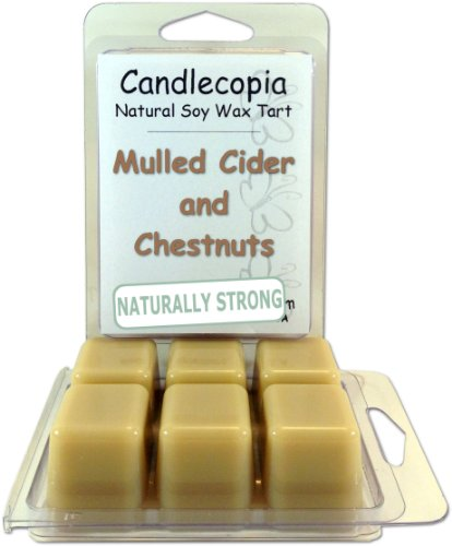 Candlecopia Mulled Cider And Chestnuts 6.4 Oz Scented Wax Melts - Begins With Spicy Orange, Nutmeg, And Clove Notes Blended Perfectly With Rich Nutty Undertones Of Vanilla And Caramel - 2-Pack Of Naturally Strong Scented Soy Wax Cubes Throw 50+ Hours Of F