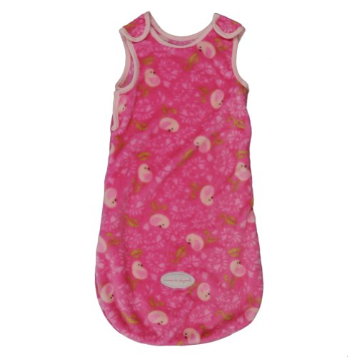 Blankets And Beyond Lovely Decorated Dove Print Baby Sleepsack Fuschia