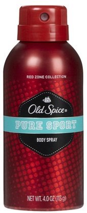 Old Spice Red Zone Body Spray, Pure Sport, 4 oz (Quantity of 5) (Old Spice Pure Sport Body Spray compare prices)