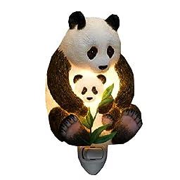 Ibis Orchid Design Panda Bear Mother and Cub Night Light