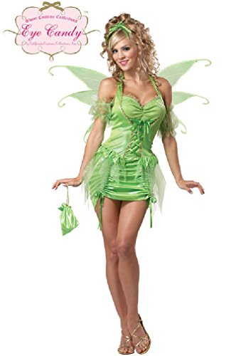 [8eighteen Sexy Tinkerbell Fairy Adult Costume] (Tinkerbell Costumes Plus Size)
