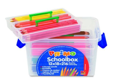 PRIMO - SCHOOLBOX 216 MATITE COLORATE