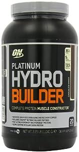 Optimum Nutrition Platinum Hydro Builder Muscle Constructor Protein Shake Powder Chocolate 1.04kg