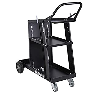 Welder Welding Cart Plasma Cutter MIG TIG ARC Universal Storage for Tanks by Brand new