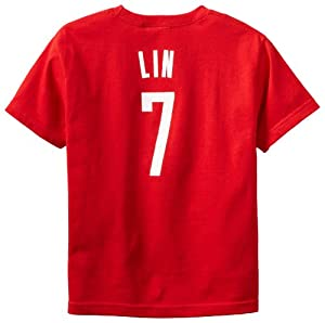 NBA Houston Rockets Jeremy Lin Youth 8-20 Short Sleeve Name & Number T-Shirt by adidas