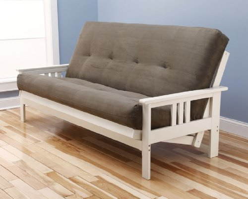 where to buy white victoria futon frame w microfiber