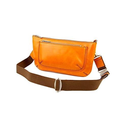 [エルゴポック] HERGOPOCH ショルダーバッグ クラッチバッグ セカンドバッグ ボディバッグ ショルダーベルト付属 GL-CS グレイズドレザー Glaze Series グレイズシリーズ オレンジ HG-GL-CS-OR