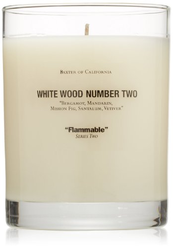 Baxter of California Scented Candle, White Wood
