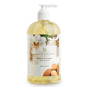 Garden Botanika Almond Cream Body Cleanser, Light Yellow, Almond, 16.9 Fluid Ounce by Garden Botanika