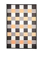 Tapis a Porter Alfombra Modern Negro/Naranja 80 x 150 cm