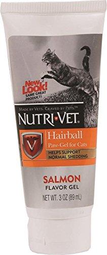 Nutri-Vet Hairball Paw-Gel for Cats, Salmon Flavor, 3-Ounce