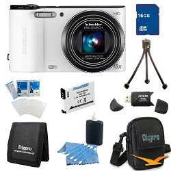 Samsung 16 GB Bundle WB150F 14 MP 18X Wi-Fi Digital Camera - White