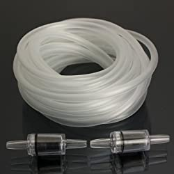 5M Air Soft Tubing Pipe Line & 2 Check Valves For Fish Aquarium Tank Aquarium Co2 System Air Pump -