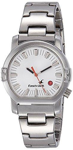 Fastrack Analog White Dial Mens Watch - NE1161SM03