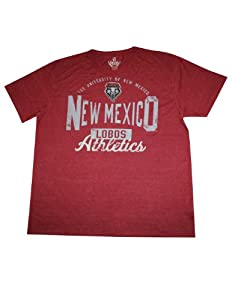 Mens NCAA New Mexico Lobos Athletic Short Sleeve T-Shirt (Vintage Look) by NCAA