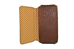 TOTTA PU Leather Hand Pouch For Intex Aqua Power HD- Brown