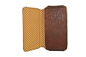 TOTTA PU Leather Hand Pouch For Gionee CTRL V5- Brown