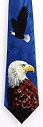Men's Blue American Bald Eagle Liberty Necktie Tie Neckwear