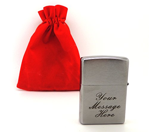 personalised-engraved-zippo-brushed-chrome-200-lighter-in-red-gift-bag-bold-black-lettering