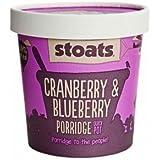 Stoats Cranberry and Blueberry Porridge Quick Pot (16 x 60g)