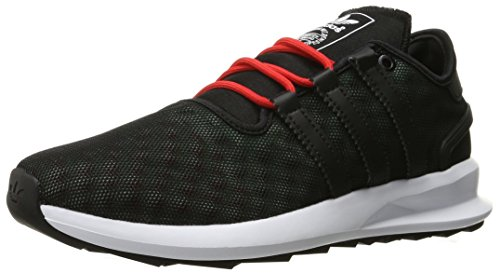 Adidas Originals Men's SL Rise Fashion Sneaker, Black/Black/Ice Green F16, 10.5 M US