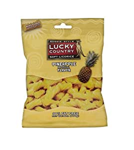 Lucky Country Licorice, Pineapple, 6-Ounce Bags (Pack of 12)