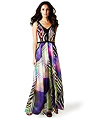 Per Una Speziale Pure Silk Zebra Print Maxi Dress